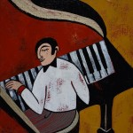 """The pianist, 8"""" x 10"""""""