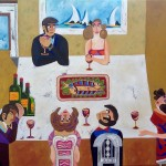 "The last supper, 40"" x 30"""
