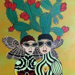 """The butterfly and the loving heart, 40"""" x 30"""""""