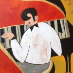 """The pianist, 8""""x10"""""""
