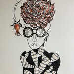 """I can see you can bloom(man), 30"""" x 22"""", paper"""
