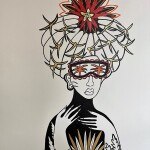 """I can see you can bloom(woman), 30"""" x 22"""", paper"""